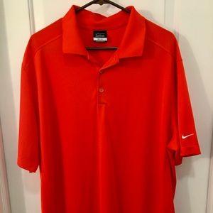 Red Orange Nike Golf Polo Shirt